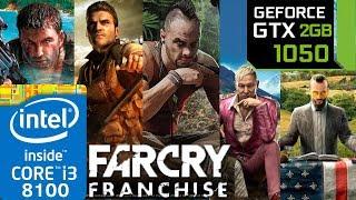 Far Cry Franchise - GTX 1050 2gb - 1 - 2 - 3 - 4 - 5 - Primal - i3 8100 - Series benchmark