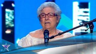 Con 85 años, ASUNCIÓN demuestra ser una GRAN POETA | Audiciones 2 | Got Talent España 5 (2019)