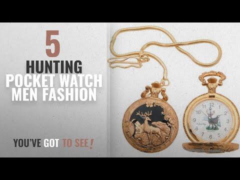 Top 10 Hunting Pocket Watch [Men Fashion Winter 2018 ]: IW25-BRK Deer Pocket Watch