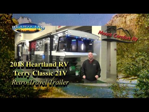 Unique NEW 2018 Heartland RV Terry Classic 21V Retro Trailer
