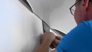 как сделать натяжной потолок самому видео