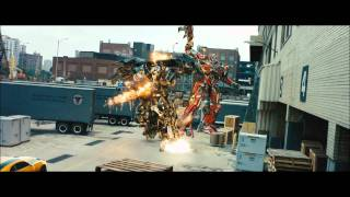 transformers 3 dark of the moon - sentinel prime kills ironhide.wmv