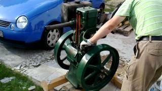 Lister CS diesel - odpalanie