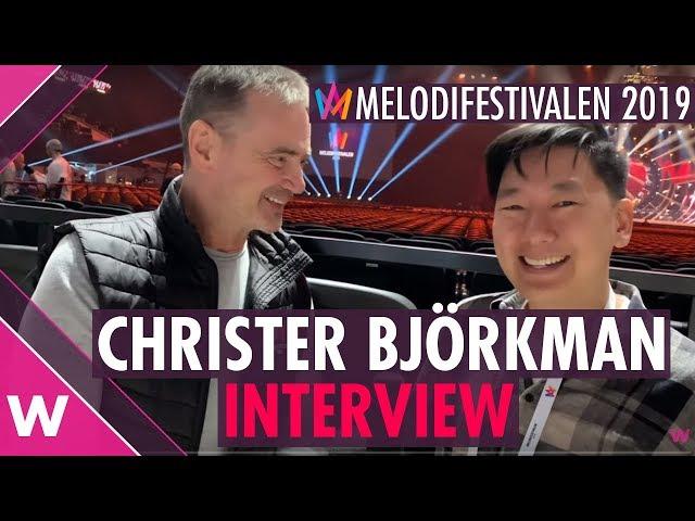 Christer Björkman Stockholm Interview @ Melodifestivalen 2019 | wiwibloggs