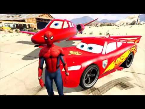 Disney Lightning McQueen Car Flying with Plane |