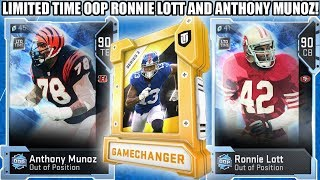 GAMECHANGER PACKS! LIMITED OOP RONNIE LOTT AND ANTHONY MUNOZ!   MADDEN 19 ULTIMATE TEAM