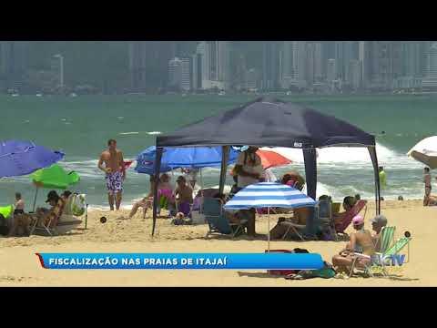 Fiscalização nas praias de Itajaí