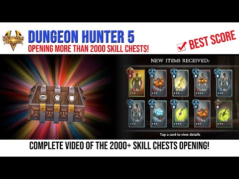 Dungeon Hunter 5: 2000+ Skill Chests Opening - Android Gameplay FHD