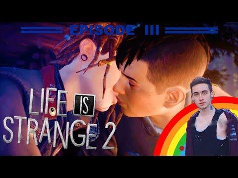 🔴 LIVE - LIFE IS STRANGE 2 - EPISODE 3 - GAY KISS! - KISSING DADDY FINN!!
