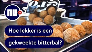 Sterrenchef proeft 'bitterbal van de toekomst' | NU.nl