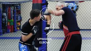 KTX Kickboxing - Analysis of KTX elbow drill on focus mitts