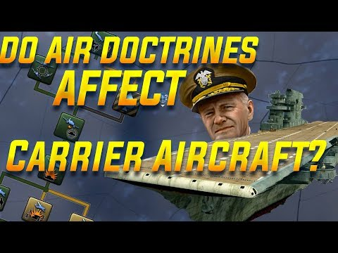 Do Air Doctrines Work with Aircraft Carriers in HOI4