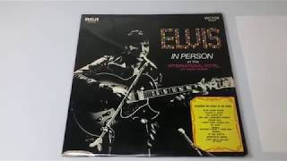 Elvis In Person At The International Friday Music LP Record. The King's Court