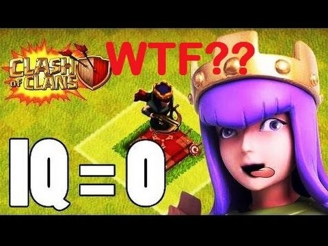 Crazy Bad Archer Queen AI / Glitch Clash of Clans