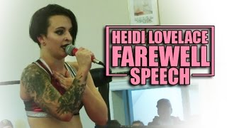 Heidi Lovelace (Ruby Riot) Farewell Speech • Alpha-1 Wrestling