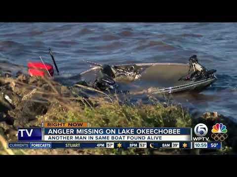 Crashed boat found on Lake Okeechobee; Florida fisherman still missing