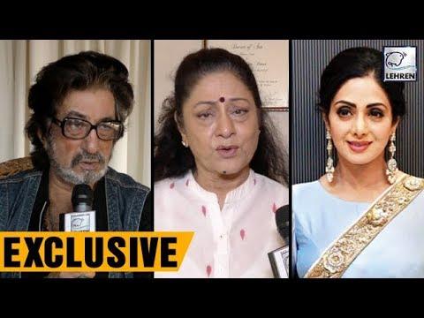 Shakti Kapoor, Aruna Irani Mourn Sridevi's Sudden Demise | LehrenTV