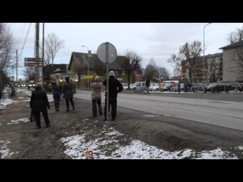Us army convoy in Türi, Estonia (part 2)