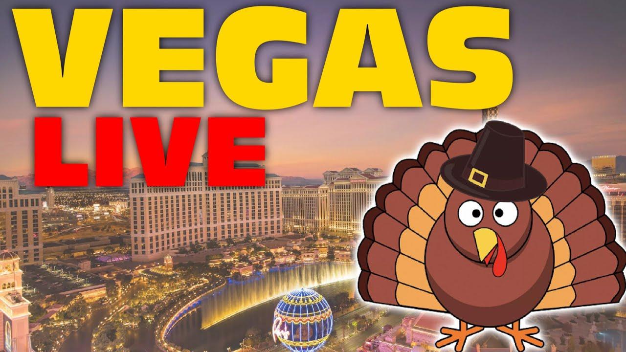 Las Vegas Thanksgiving LIVESTREAM - A WINDY Las Vegas Strip