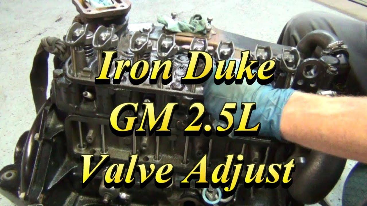 1997 Chevy Cavalier Engine Diagram Gm 2 5l Iron Duke Valve Adjustment Youtube