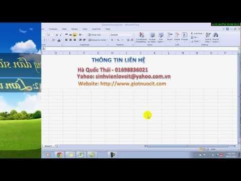 Chương 2. Làm việc với dữ liệu trong Excel
