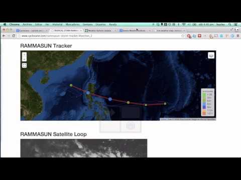 Jul 12 - future Typhoon Rammasun headed for the Philippines
