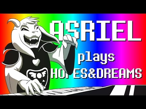 ASRIEL PLAYS HOPES & DREAMS IN MIDI | Undertale Animated Parody
