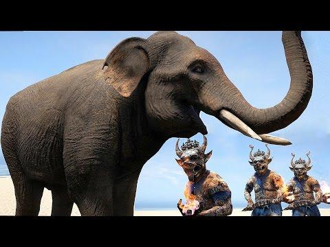 Far Cry 4 Massive Scale Battles Elephants vs Soldiers