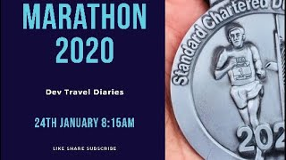 Dubai Marathon 2020 run with Dev Travel Diaries #Dubai #Marathon #10KM #Standard Chartered # VLOG6
