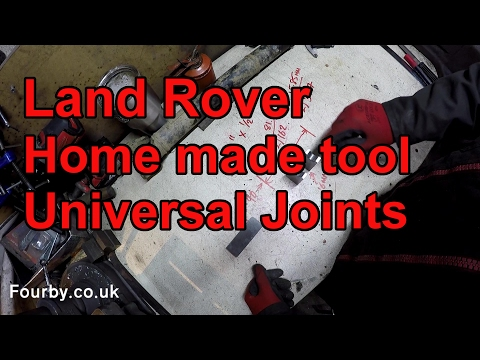 How to change a Land Rover Propshaft UJ cardon joint with a home made tool