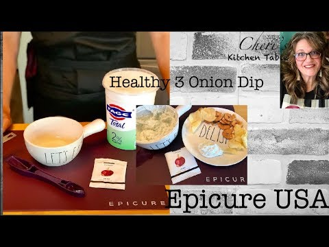 Clean Eating 3 Onion Dip!  Healthy, Tasty - It's What's For Lunch - Epicure USA