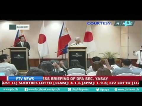 Japanese Foreign Minister Fumio Kishida, nasa bansa na