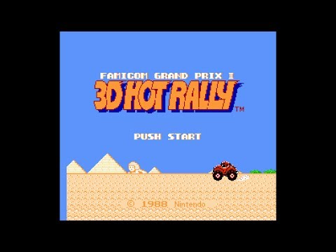 (Real 3D) Famicom Grandprix II: 3D Hot Rally - NES Longplay (Famicom 3D)