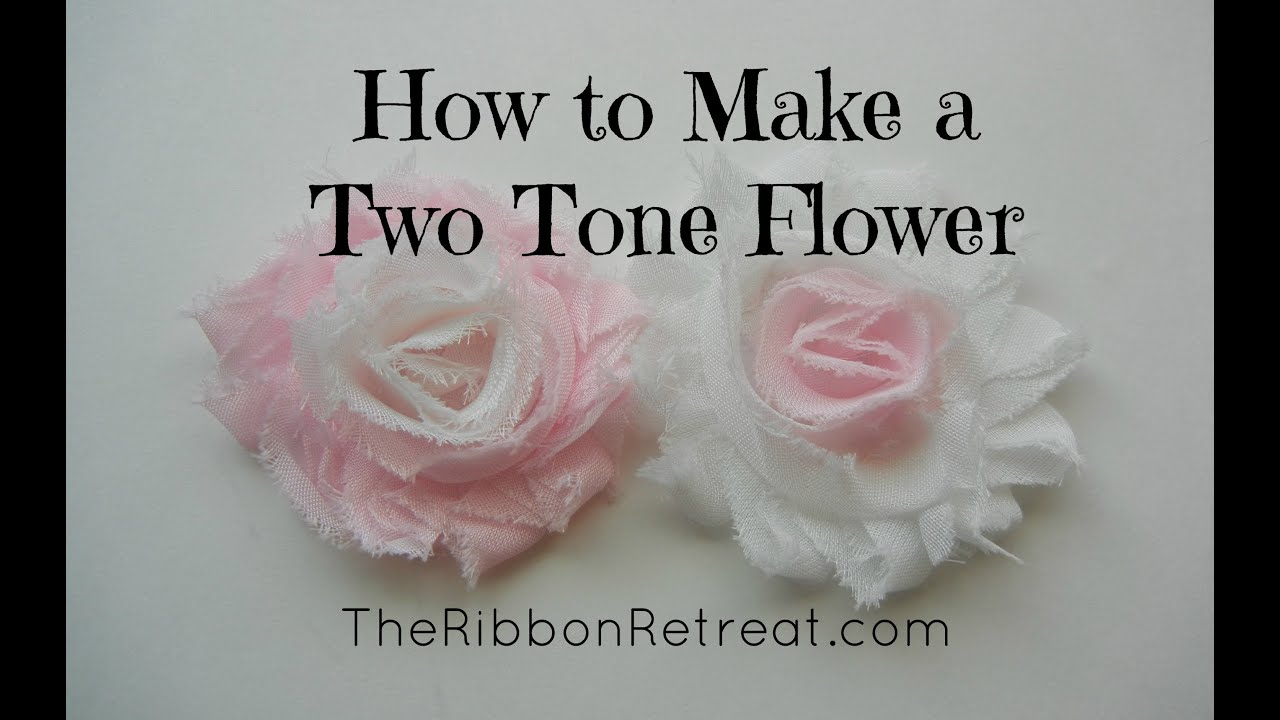 How to Make a Two Tone Shabby Chiffon Flower TheRibbonRetreat