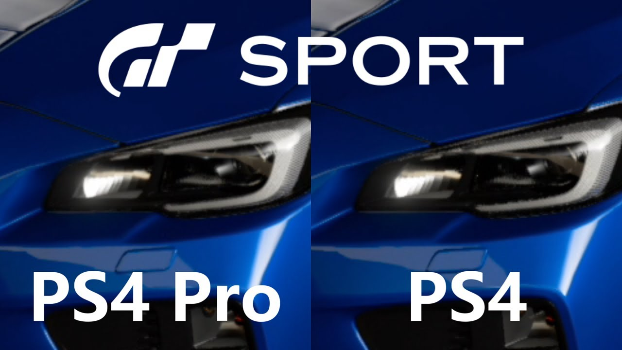 gt sport ps4 pro vs ps4 beta youtube