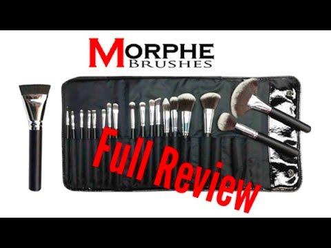 Morphe Brushes  Full Review/Demo:18 PIECE VEGAN BRUSH SET + C460 Flat  Contour Brush