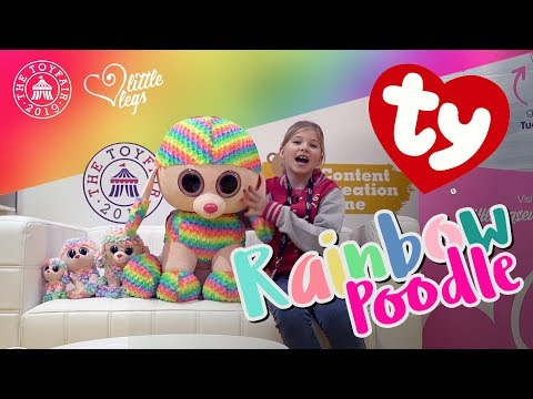 Rainbow Poodle Beanie Boo Soft Toy Review by TY at the London Toy Fair 2019