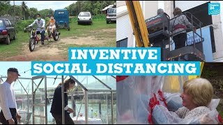 Covid-19: Inventive social distancing around the world