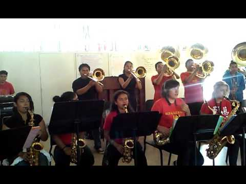 Dominguez High School Marching Band ( I need a doctor) practice