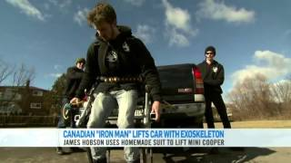 Lifting a Truck with the Exoskeleton -- CTV National News!