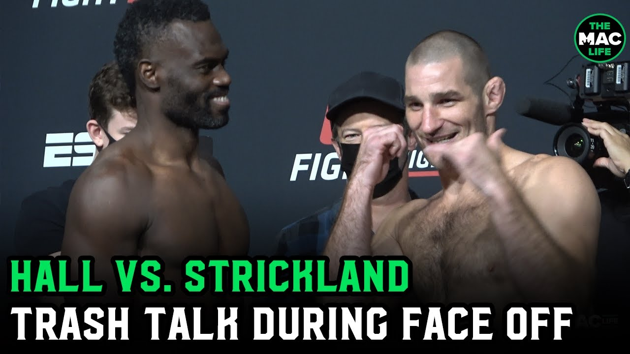 """Sean Strickland to Uriah Hall: """"What the f*** man? You called me sloppy! I'm not that sloppy!"""""""