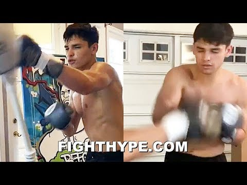 "RYAN GARCIA PERFECTING HOOK-RIGHT-GOODNIGHT KO PUNCH; TRAINING ""STRATEGIC"" COMBOS FOR NEXT FIGHT"