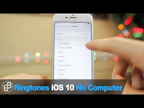 Make Free iPhone Ringtones: Set Any Song as Ringtone/Text Sound (NO COMPUTER - iOS 10, 10.1.1, 10.2)