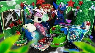 DIY Miniature Dollhouse Room ~ Ariel Bedroom Decor, Glitter Mermaid