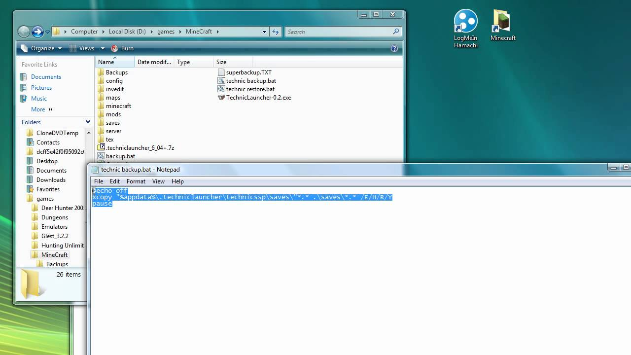 how to create backup batch file