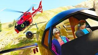 Mit dem Flugzeug GEGEN einen Helikopter!