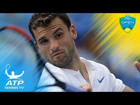 Grigor Dimitrov great shots and match point vs Feliciano Lopez   Cincinnati 2017 Highlights Day 4