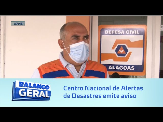 Alerta!: Centro Nacional de Alertas de Desastres Naturais emite aviso para Maceió