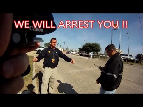 Deer Park,Tx.-Shell Refinery=Security threatens me with arrest.