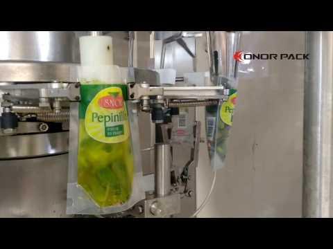 Envasadora doypack para pepinillo aceituna oliva cebolla